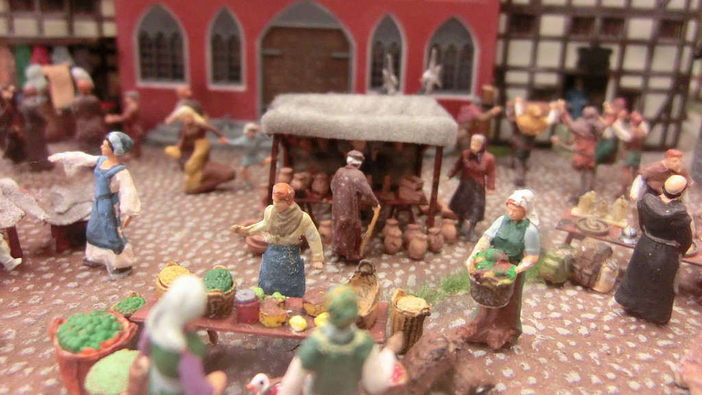 Marktszene im Miniatur Wunderland
