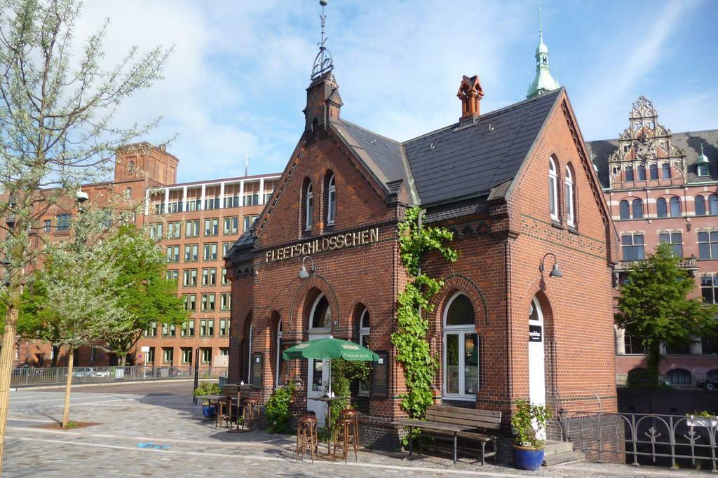 Fleetschlösschen in der Speicherstadt im Hamburg