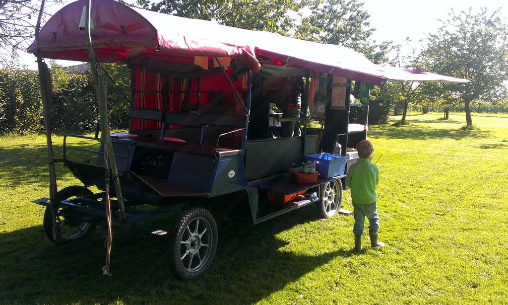 Zigeunerwagen bei der Pause