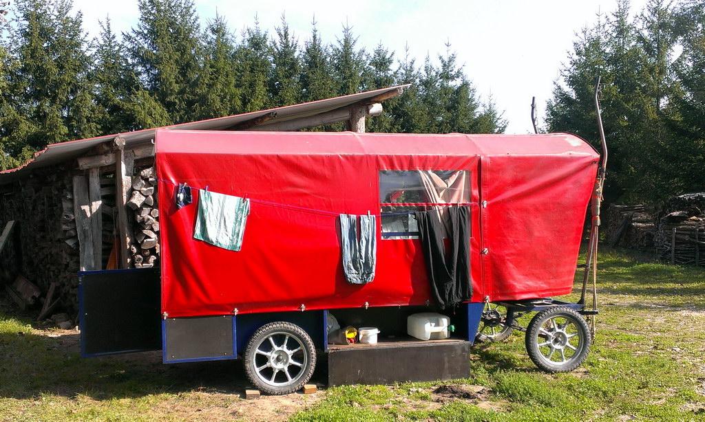 Zigeunerwagen auf seinem Standplatz