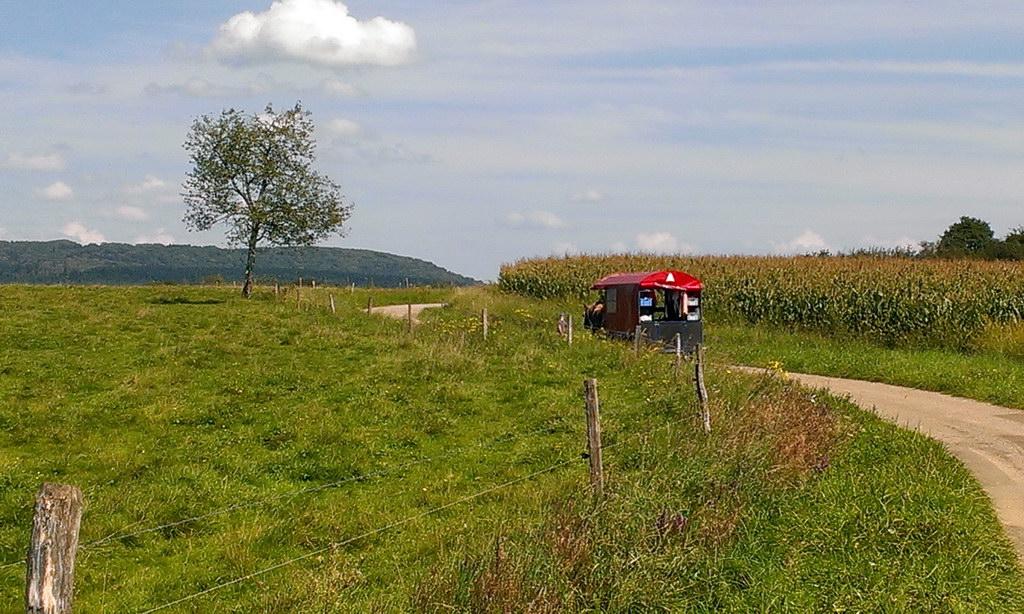 Zigeunerwagen in der Ferne - Frankreich