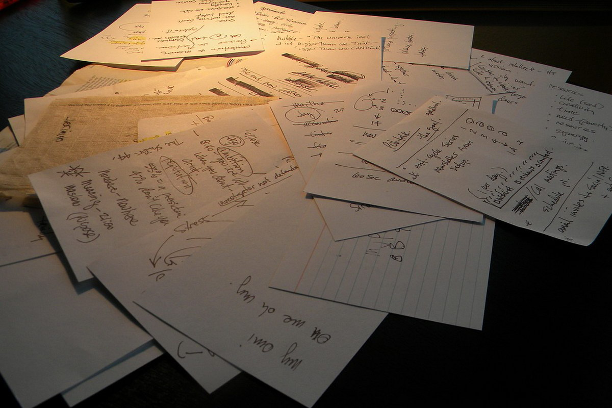 Handgeschriebene Bucket List