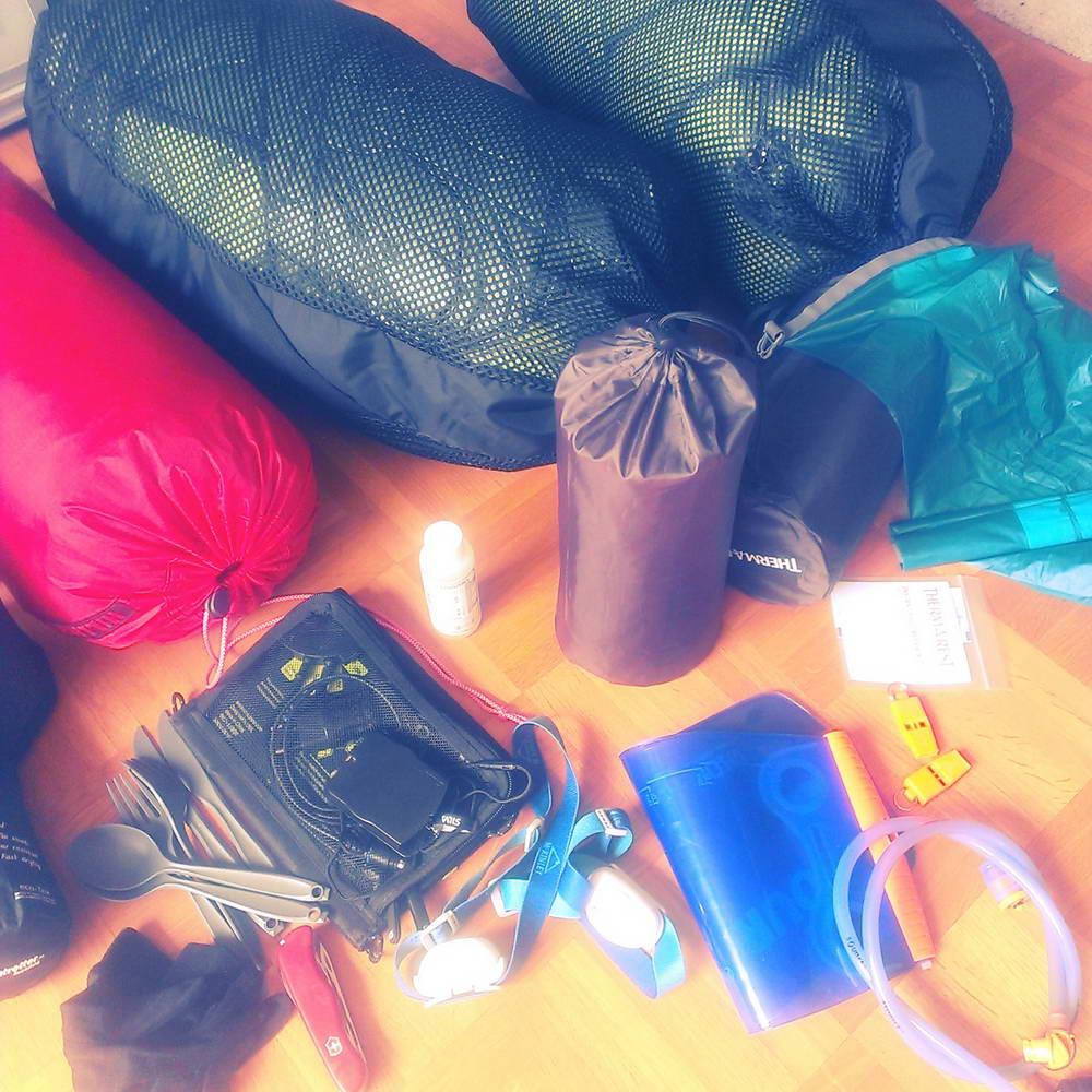 Packen des Rucksacks