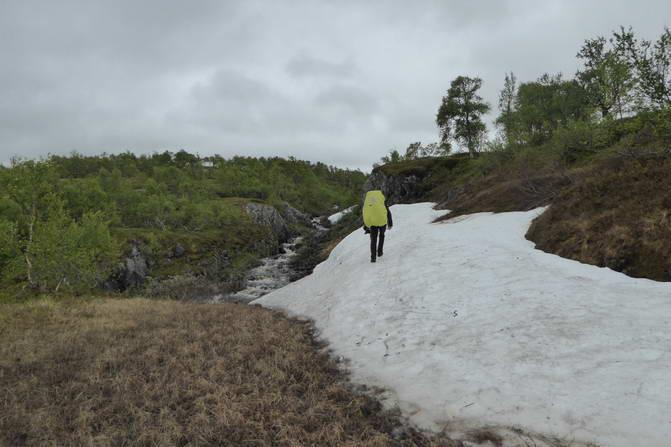 Erstes Schneefeld