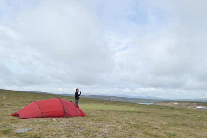 Einsames Zelt