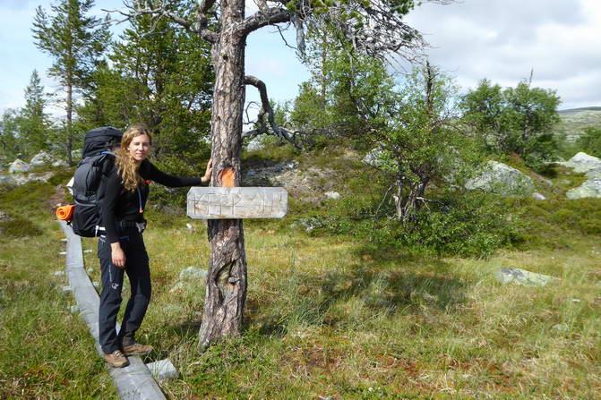 Strecke Fjällnäs - Grövelsjön, Schild Keep On