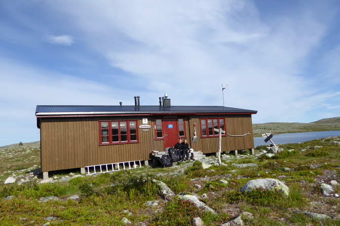 Strecke Fjällnäs - Grövelsjön, STF Hütte