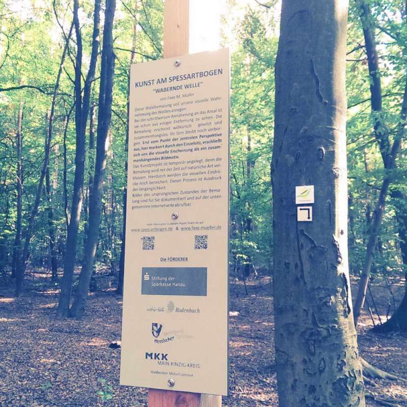Spessartbogen von Langenselbold - Kunst im Wald