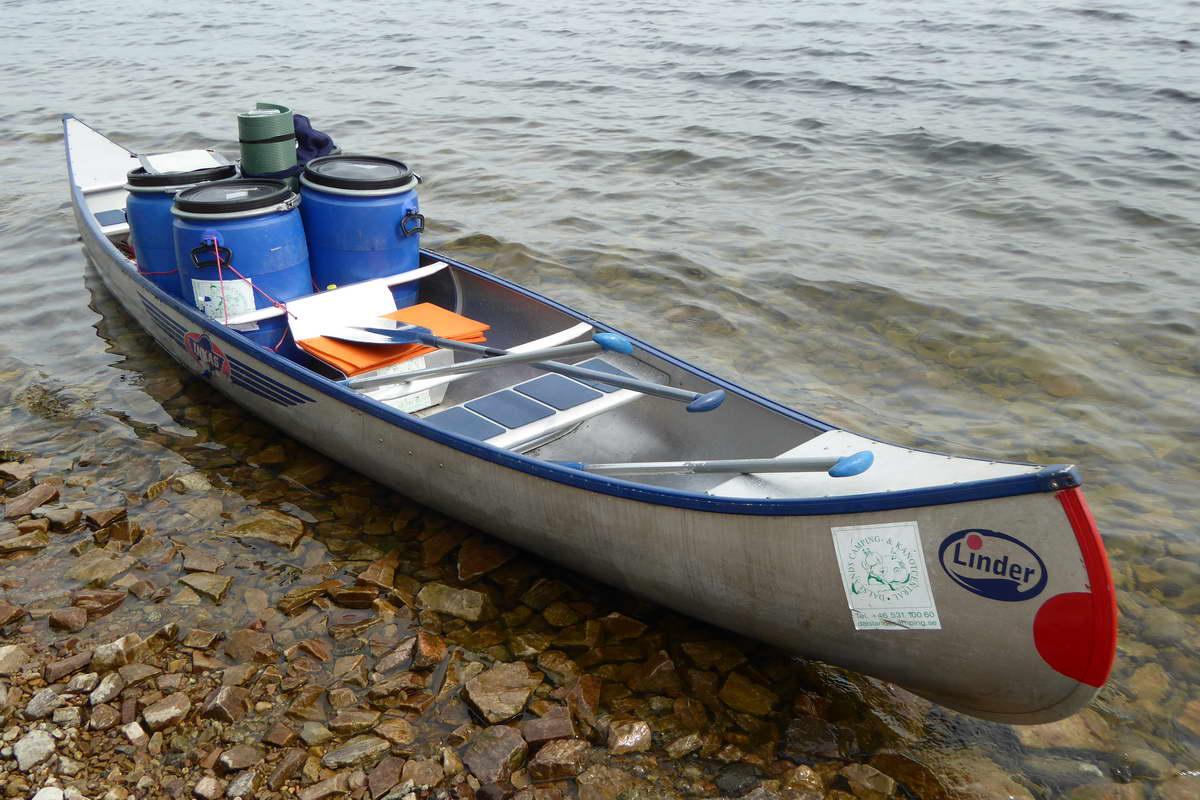 Kanutour in Schweden - das bepackte Kanu