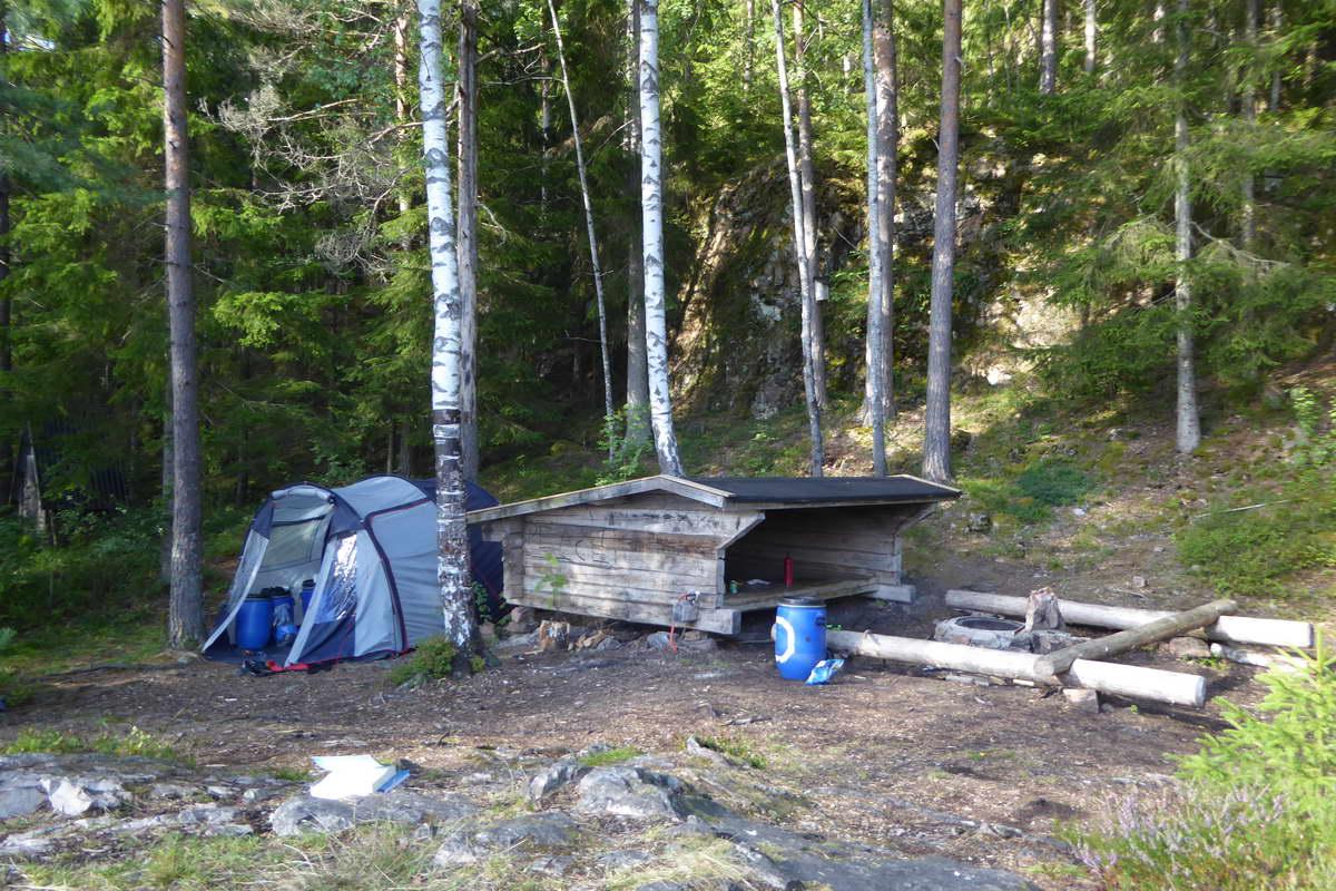 Kanutour durch Schweden - das Lager